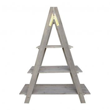 Street76 Ladder 3-Shelf Display Old Pine