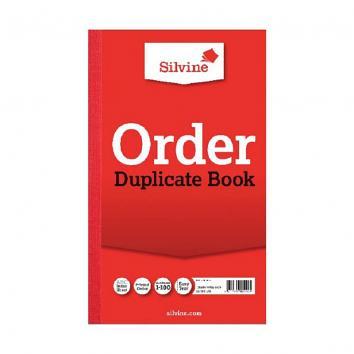 """8.25x5"""" Order Silvine Duplicate Books - Pack of 6"""