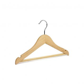 30cm Wooden Tops / Suit Hanger - Natural (100)