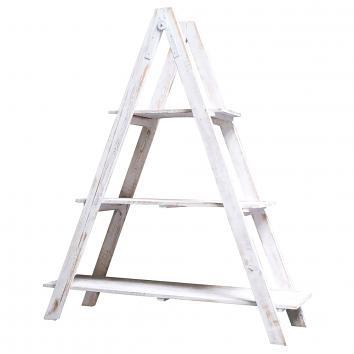 Street76 Ladder 3-Shelf Display White Wash