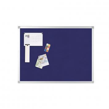 900x600mm Aluminium Framed Blue Notice Board