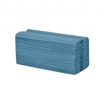 230x330mm 1 Ply Blue C-Fold Hand Towels