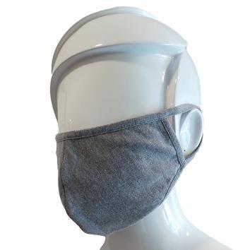 Large 2ply Washable Grey Cotton Mask