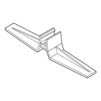 Frame foot - vertical  (pair)