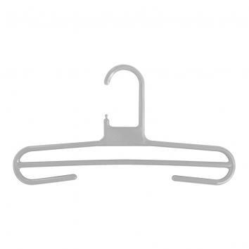 34cm Rainbow Plastic Trouser Hangers Grey (120)