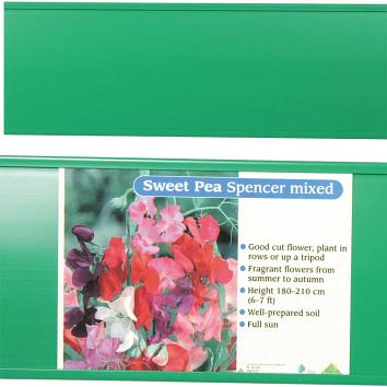 Standard PVC Label Track Green - Pack of 10 x 2 metre lengths - 1x20