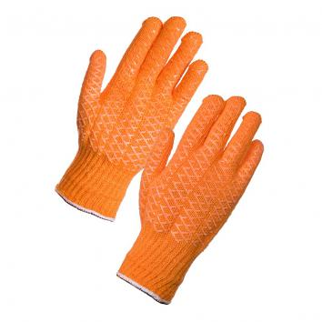 Criss Cross Orange Gloves