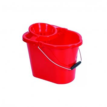 Plastic Mop Red Bucket With Wringer