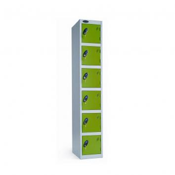 300x300x1800mm Locker - 6 Door Grey/Green
