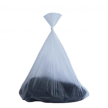 "13x22x30"" 375x550x750mm Natural (Semi-Clear) Swing Bin Liners (1000)"