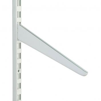 280mm White Sloping Shelf Bracket for Slotted Uprights