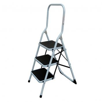 3 Tread Folding Steel Step Stool