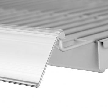 1200 x 39mm All Clear Shelf-edge Ticket Holder  For 16-22mm Shelves