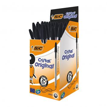 BIC Cristal Black Biro - Pack of 50