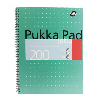 Pukka Jotta Notebook A4 Wirebound Feint Ruled 200 Pages (3 Pack)