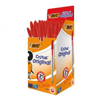 BIC Cristal Red Biro - Pack of 50