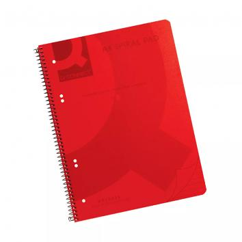 Q-Connect Spiral Bound A4 Notebook - Red