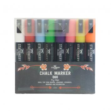 Liquid Chalk Markers Waterproof 6mm Dry-Wipe Assorted (Pack Of 8)