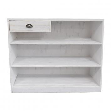 1190x500x1000mm Street76 Cash Desk White Wash