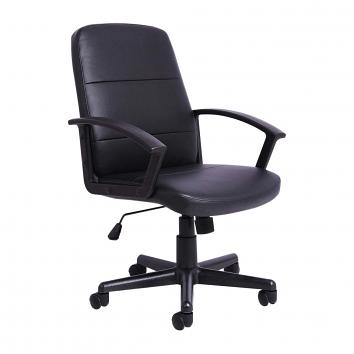 Budget PU Leather Managers Chair - Black