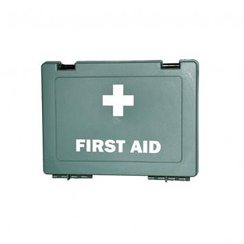 Green First Aid Box - Empty (1-10 Person Small)