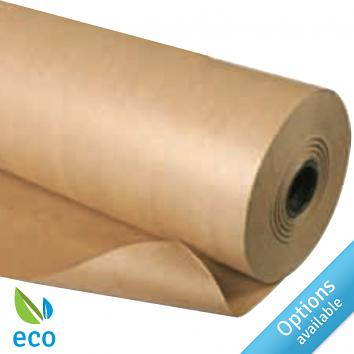 Pure Ribbed Kraft Paper Rolls