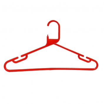 34cm Rainbow Plastic Hangers Red