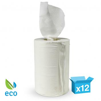 200mmx120m White 1 Ply Mini Centre Feed Paper Towel