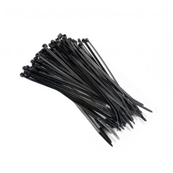 4.8mmx200mm Unreleasable Cable Ties - black (100)