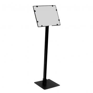 Non-telescopic, Angled Head A6  Sign Holder With 325mm Stem