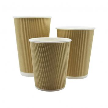12oz Kraft Ripple Cups (500)