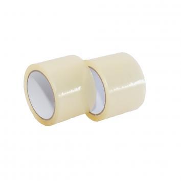 75mmx66m Clear Std 28mu Polyprop Tape (24)