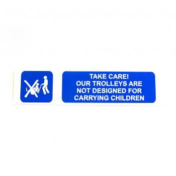 Correx Safety Sign - Take Care Our trolleys…