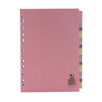 Q-Connect A4 Subject Dividers 20 Part
