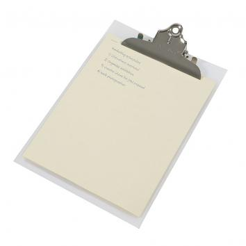 A4 / Foolscap Rigid PolyProp Heavy Duty Clipboard (In Frosted/Transparent)