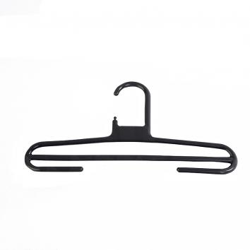 34cm Rainbow Plastic Trouser Hanger - Black (120)