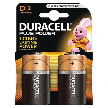 D Duracell Batteries (2)