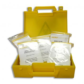 Bio Hazard Body Fluid Disposal Kit - 5 Applications