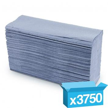 230x330mm 1 Ply Blue Z-Fold Hand Towels