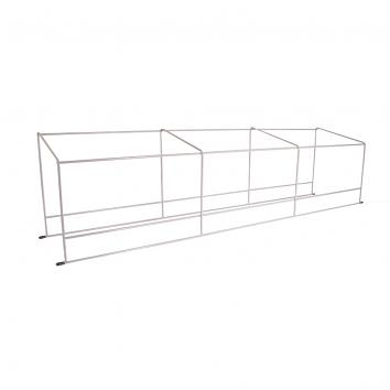 950x200mm 3-Section LP Rack Silver For Grooved Shelf