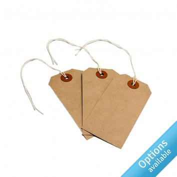 Recycled Brown Luggage Tags