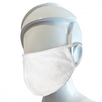 Large 2ply Washable White Cotton Mask